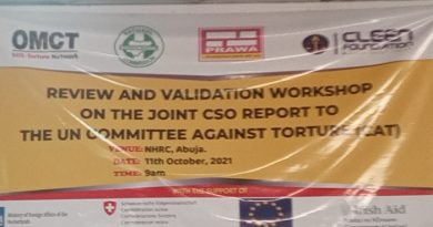 CLEEN FOUNDATION, PRAWA OTHER CSO'S HOLD REVIEW AND VALIDATION WORKSHOP ON CAT, Appeals to FGN to make timely reports